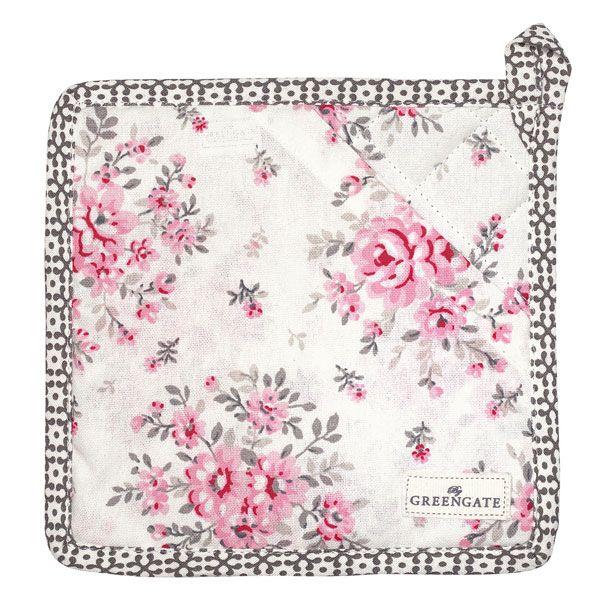 GREENGATE Topflappen Flora White 2er Set