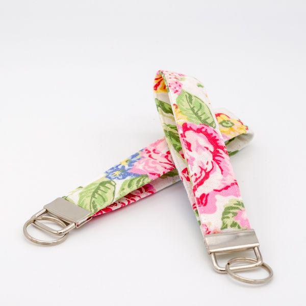 Schlüsselanhänger aus Stoff Emmaline White