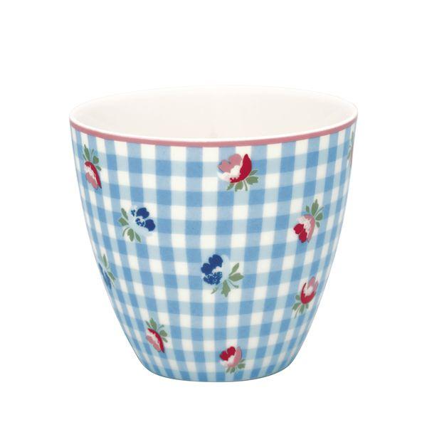 GREENGATE Latte Cup Viola Check Pale Blue